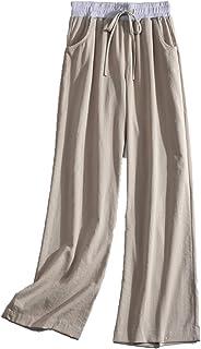 Maruya レディース ワイドパンツ ロングパンツ 薄手 リラックスパンツ 春秋 ストレッチ 通勤 シンプル ゆったり リボン 通学 着痩せ おしゃれ オフィス 日系 カジュアル 上品 人気 大きいサイズ