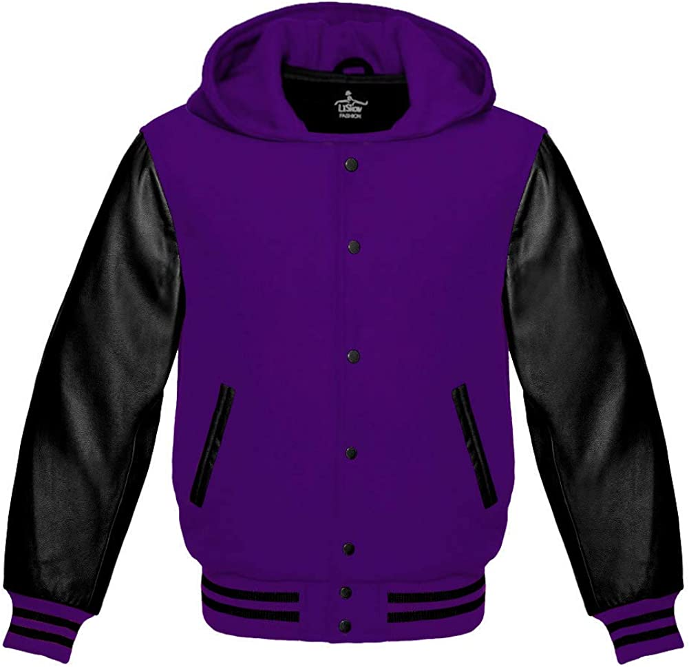 Varsity Hoodie Jacket For Baseball New Direct stock discount Shipping Free Pu Letterman Bomber School Of