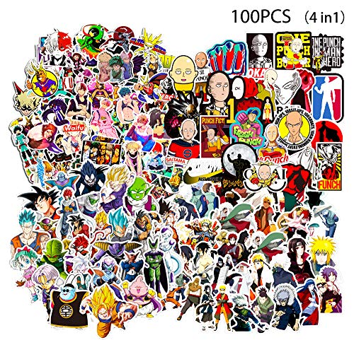 Kilmila Stickers [100pcs], Random Vinyl Anime Vinyl Sticker for Laptop Water Bottle Bike Car Motorcycle Bumper Luggage Skateboard Graffiti, Cool Animals Monsters Decals, Best Gift for Kids Children