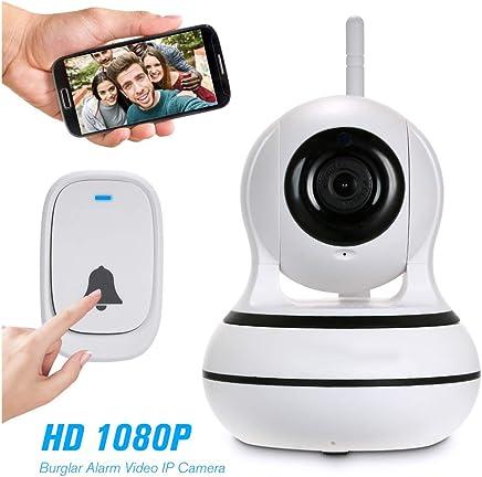Gybai Webcam Telecamera WiFi 433 MHz Telecamera Antifurto Telecamera IP 1080P Telecamera di Sorveglianza Wireless Bidirezionale PTZ con Monitor per La Visione Notturna del Bambino - Trova i prezzi più bassi