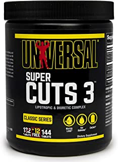 Universal Nutrition Super CUTS 3 130 TABS, 144 Count (Pack of 1)