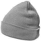 DonDon gorro de invierno gorro de abrigo diseño clásico moderno y suave gris