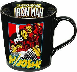 Vandor 26266 Marvel Iron Man 12 oz Ceramic Mug, Black, Yellow, and Red