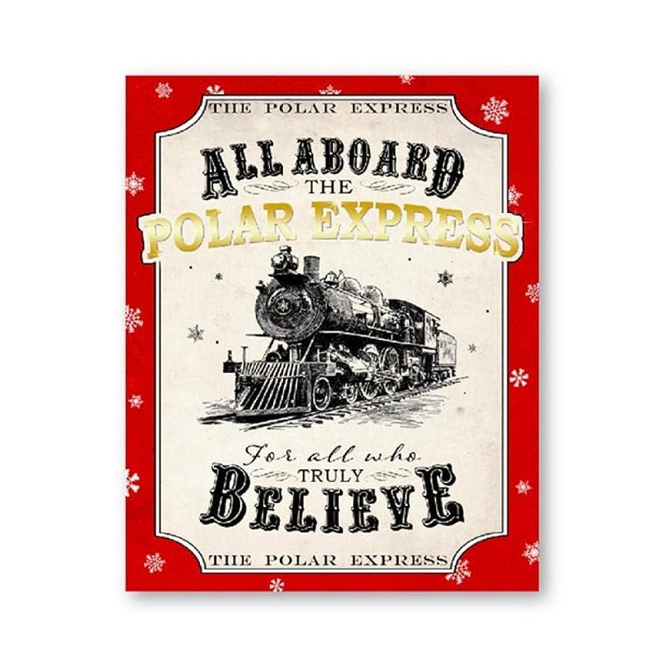 ヘアオーバードロールビーPolar Express All Aboard Poster Christmas Sign Prints Red Believe Decorations Vintage Wall Art Canvas Painting Picture Decor-40x50cm-No Frame