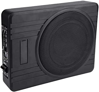 $201 » Under-Seat Subwoofer, 10in 600W Ultra-Thin Under-Seat Car Active Subwoofer Audio Bass Enclosure Speaker Amplifier