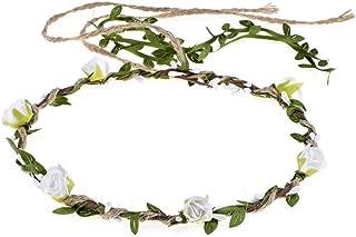 Vividsun Flower Crown Floral Wreath Headband Floral Garland Headbands for Party