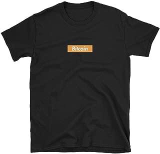 Bitcoin on Bitcoin Orange inspired by Supreme Classic Box Logo T-Shirt
