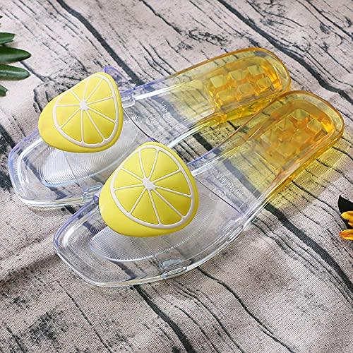 ypyrhh Baño Sandalia Suela De Suave,Zapatos de Cristal Cuadrados de Moda,Frutas Interiores...