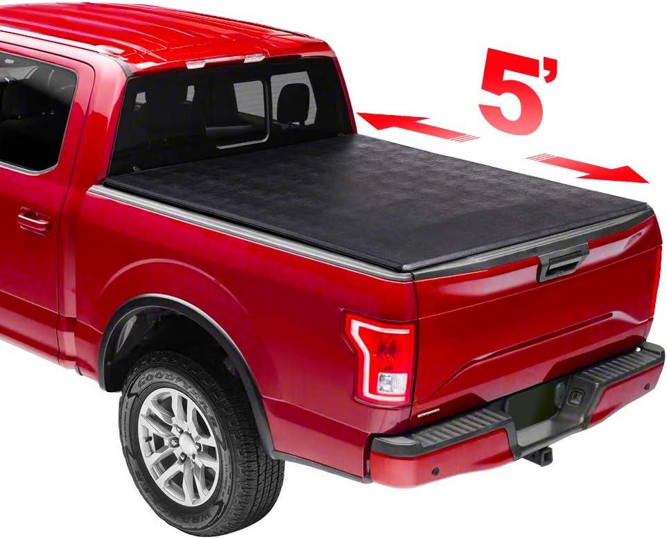 New Wholesale Bargain sale 5' Soft Trifold Folding Waterproof Truck Bed R Cover Tonneau