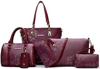 Handbags For Women Printed Ladies Handbags 6piece Shoulder Bag Bag Large Capacity