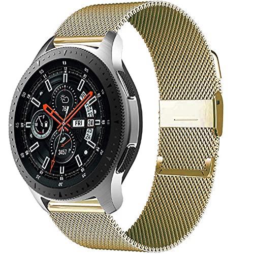 Watch Band 20Mm / 22Mm Banda Magnética Huawei Watch GT 2-2E-Pro Pulsera De Acero Inoxidable para Samsung Galaxy Watch 3 / 46Mm / 42Mm / Active 2 Corre