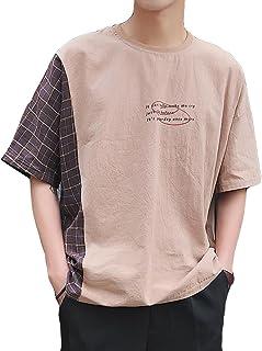 (ニカ)メンズ Tシャツ 半袖 メンズ 春 夏 薄手 カジュアル 無地 メンズ半袖