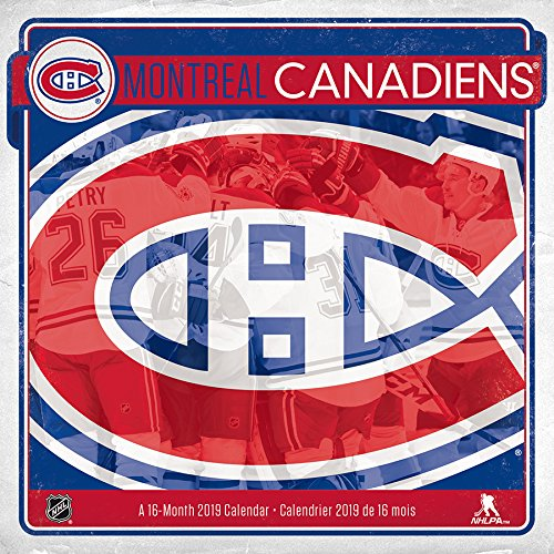 2019 Montreal Canadiens Wall Calendar (English and )