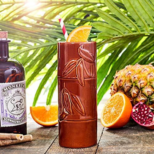 bar@drinkstuff Mug à cocktails Hawaiian Bambou Tiki, 350ml ,en céramique de qualité,