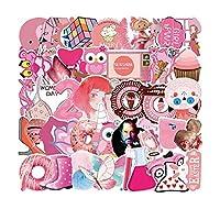 山笑の美 54ピンクシリーズグラフィティステッカーイン風スーツケース機関車防水携帯電話タブレット装飾ステッカー-1pcs