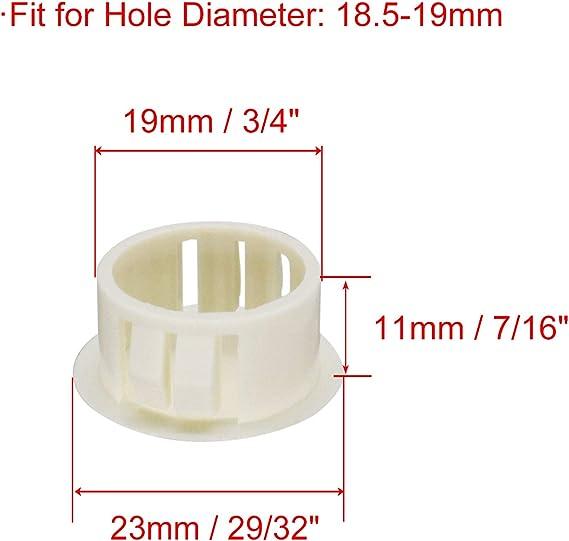 Fit for 18.5-19mm Diameter Locking Hole Tube Flush Type Panel Plugs Fastener Cover for Kitchen Cabinet Furniture Black 25 Pcs 3//4 VictorsHome Hole Plugs Plastic 19mm