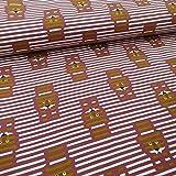Schickliesel Organic Jersey Stoff Meterware Streifen und
