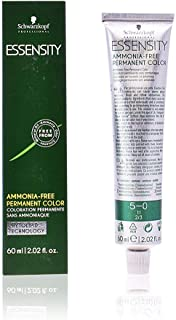 Schwarzkopf Professional Essensity Permanent Hair Color, 5-0, Light Natural Brown, 2.1 Ounce