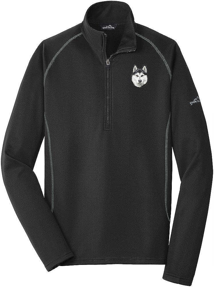 Cherrybrook Black Breed Embroidered Mens Eddie Bauer Base Layer Fleece (All Breeds)