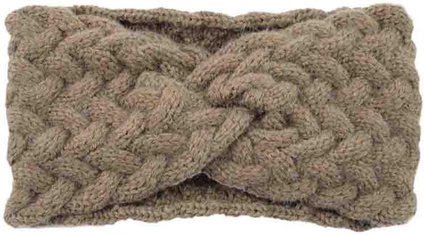 YUXINYAN Headbands 2 Pieces, Women's Wool Knitted Headband, Autumn and Winter Plush Ear Warmer, Knitted Scarf, Knitted Headband, Hair Accessories Head Scarfs (Color : F)