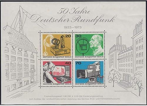 Goldhahn Berlin Block 4 postfrisch  verschobener Werteindruck 20  Briefmarken für Sammler