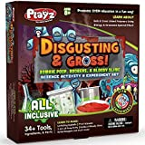 Playz Disgusting n' Gross Zombie Poop, Boogers, & Bloody Slime Science Activity & Experiment Set Gift for Boy, Girls, Teenagers, & Kids Ages 8, 9, 10, 11, 12, 13+ Years Old