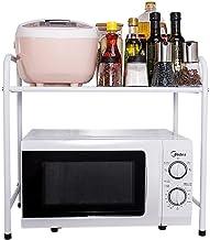 Multifunctional Kitchen Storage Rack White Microwave Shelf Kitchen Shelf Storage Rack Oven Rack Kitchen Supplies