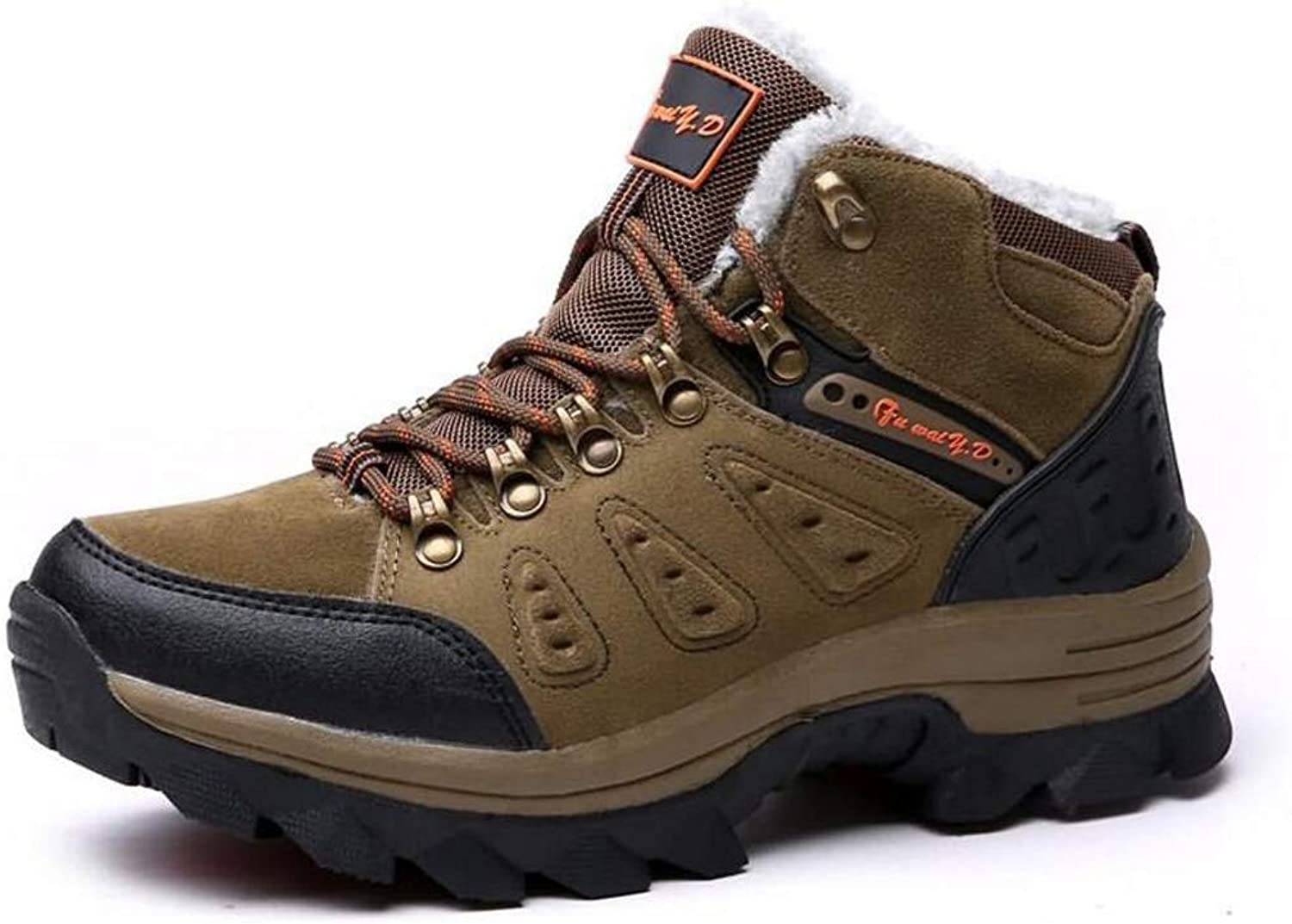 b9b1a61fa1d99 Waterproof Hiking shoes for Men Shockproof Non-Slip Leather Leather ...