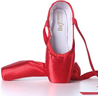 AGYE Zapatillas de Ballet, Zapatos de Punta de Baile de Ballet de Satén para Niña,Zapatos de Punta Profesionales para Muje...