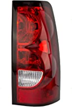 Taillight Tail Lamp Passenger Lens, Bulb and Wiring Harness Replacement for 04-07 Chevrolet Silverado Fleetside Pickup Truck 19169005