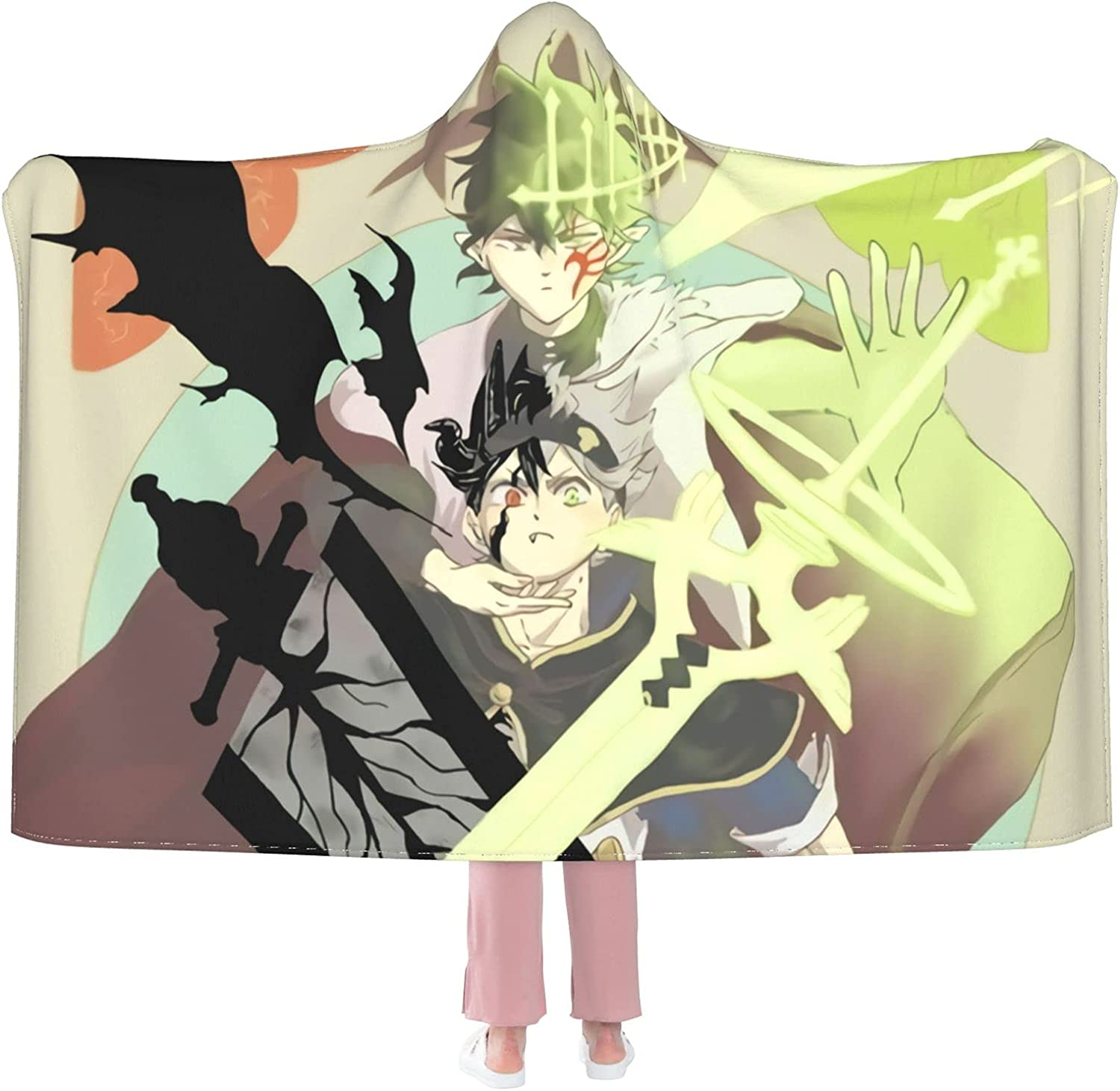 Black Clover Yuno Hooded Anti-Pilling Flannel Max 70% OFF Recommended Wearable Blanket