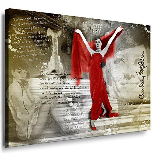 Bilder Audrey Hepburn Filmszene Leinwand Bild M Format 40 x 60 cm ! Wandbilder 10 Motive Wählbar ! KEILRAHMENBILD! Kein Poster, FOTOGRAFIEN ODER Plakat! Grosse LEINWANDBILDER! AH-01-51
