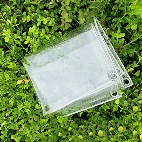 Glass Clear Tarpaulin,Transparent Waterproof Tarpaulin,Cover Tarp Heavy Duty,Dustproof and Anti-Aging Tarpaulin,for Camping Fishing Gardening,0.3mm Thickness,Customizable (1.2x2m/3.9x6.6ft)