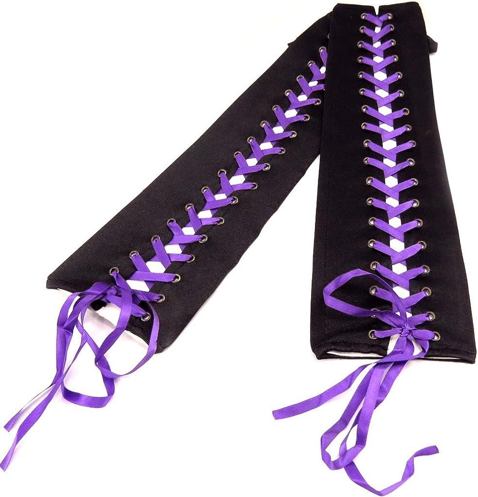 Mittens satin 'Scarlett'purple black.