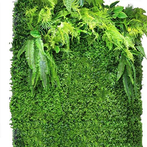 YNFNGXU Seto Artificial con imitación Floral Verde Pantalla de privacidad Fondo Pared de plástico Jardín Decoración de la Pared del hogar (0.96㎡) (Color : 02)