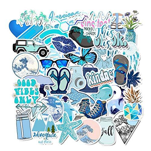XUNMOWEI 50 stks Strand Surfing Stickers Stickers Waterdichte Decals voor Waterfles Hydro Flask Skateboard Laptop Snowboard voor Kinderen Tieners Volwassen Waterdichte Stickers 02