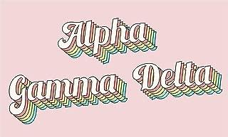 Alpha Gamma Delta - Sorority Letter Flag (Retro Design)