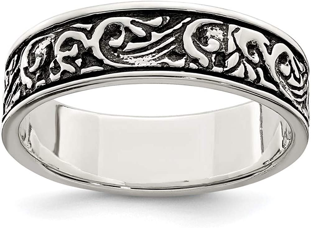 925 Sterling Spasm specialty shop price Silver Filigree Womens Band Fine W Ring For Jewelry