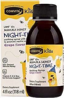 Comvita Kids Soothing Manuka Honey Soothing Syrup for Kids, Night-TIME, Certified UMF 10+ Manuka Honey, Non-GMO, 4 fl oz