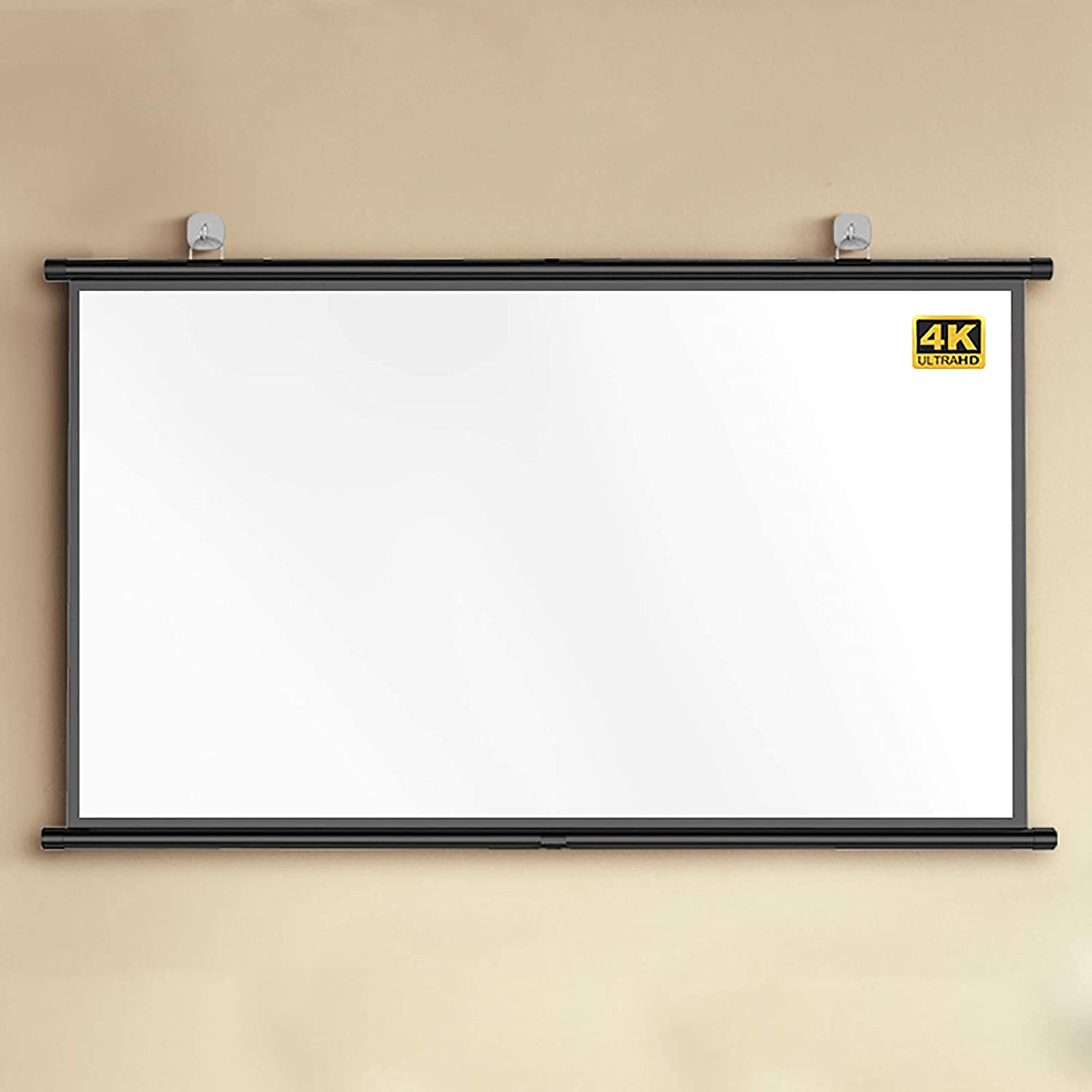 YFF-Corrimano Projector Screen, 4:3/16:9 Ratio, Home Simple Strip Wall-Mounted High-Definition Projection Screen, Used for Movies   Home Projector