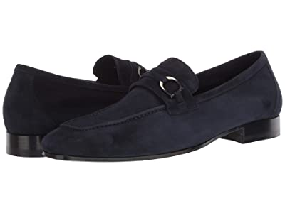 Canali Goat Suede Loafer (Blue) Men