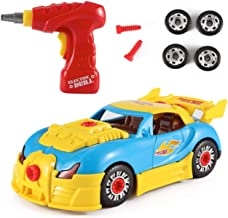 Take Apart Toy Racing Car Kit For Kids W Electric Toy Drill, Lights and Sounds –..