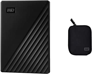 WD 2TB My Passport Portable External Hard Drive, Black - WDBYVG0020BBK-WESN with Carrying Case