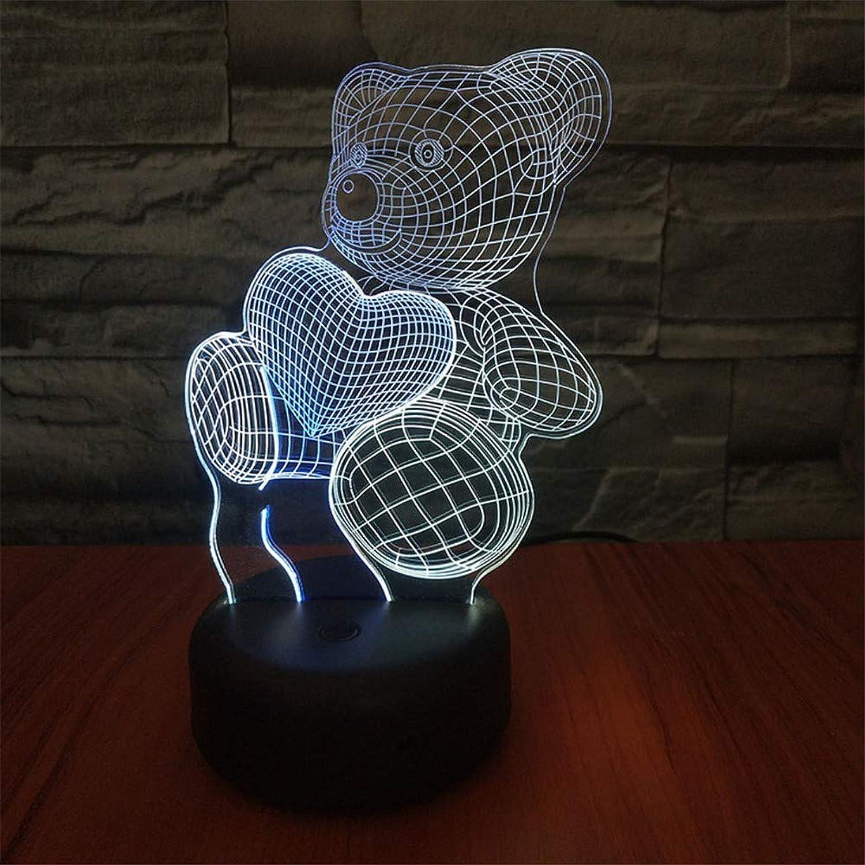 MGU Kind nachtlicht liebe br 3d usb modellierung tischlampe led nachtlichter 7 farben ndern schlafzimmer wohnkultur geschenke leuchte interessant leuchtspielzeug