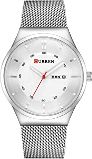 GoolRC 8311 ساعة للرجال كوارتز العلامة التجارية ووتش التقويم عرض الوقت الفولاذ المقاوم للصدأ ووتش