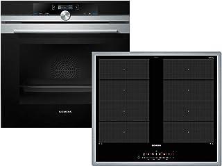 Siemens EQ2Z123 Set horno HB633GBS1 de acero inoxidable + placa de inducción EX645FXC1E 10 funciones de horno 60 cm cocina de inducción A+ 71 litros