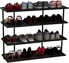 XDDDX 4-Tier Shoe Rack, Organizer Storage Bench Stand for Mens Womens Shoes Closet with Iron Shelves That Hold Shoes (Colo...
