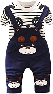 Toddler Kid Baby Boys Girls Panda Print Tops+Pants Overalls Outfit Clothes