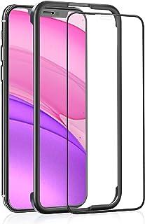 OAproda iPhone 11 / iPhone XR ガラスフィルム 用 全面保護 強化ガラス【ガイド枠付き/ケースに干渉しない】アイフォン 11 / XR (6.1インチ) 用 フィルム