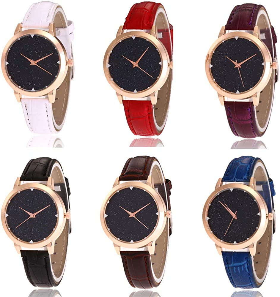 RBuy 6 Assorted Men Women Ladies Analog Watch Girls Leather Band OFFicial mail order Inventory cleanup selling sale